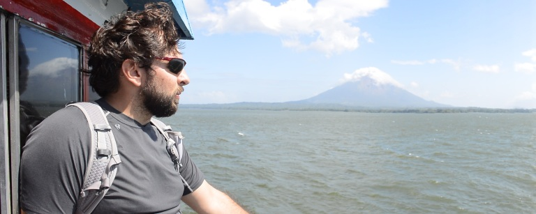 Approaching the island of Ometepe, Nicaragua