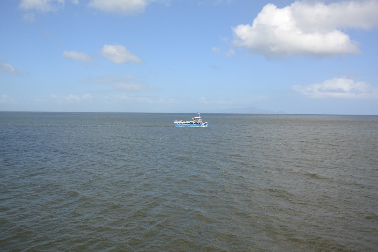 Small boat on the big lake: another (smaller) ferry passing us as we cross Lake Nicaragua