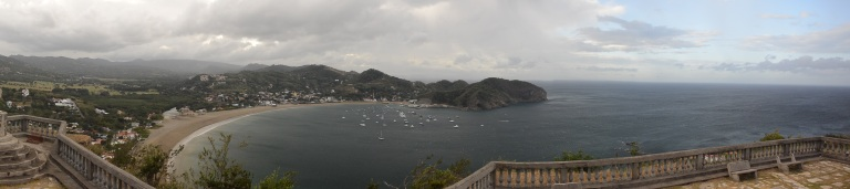 Picturesque harbor and town of San Juan del Sur on the Pacific Ocean