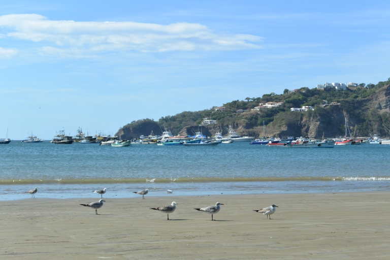 Beach, boats, and bluffs of San Juan del Sur